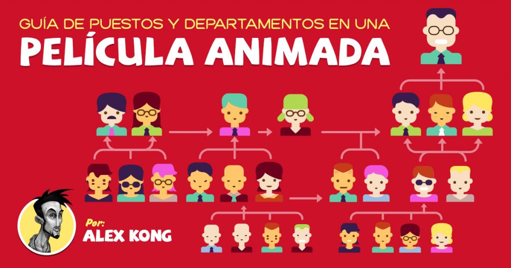 Guía de Puestos y Departamentos de una película animada en México - Alex Kong