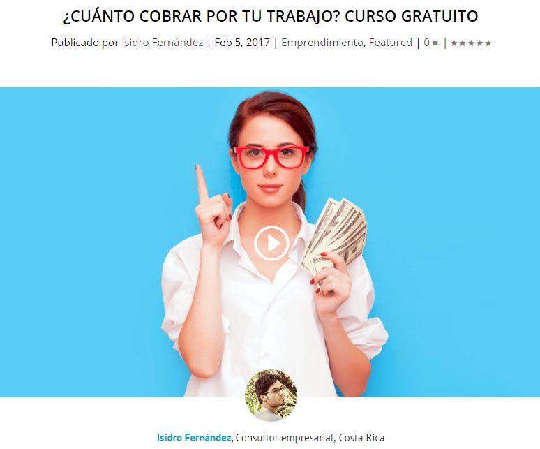 Cuánto cobrar por tu trabajo - Curso de Isidro Fernandez