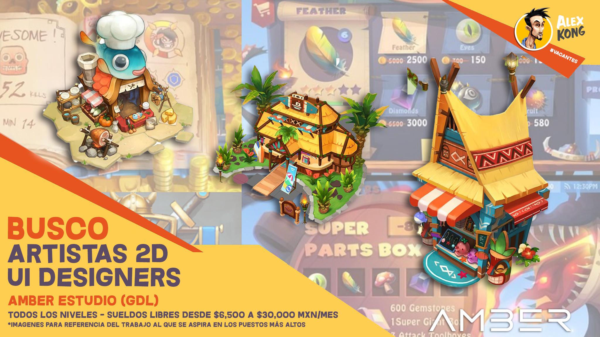 Artistas 2D (Concept Artist/UI Designers) (Todos los niveles)